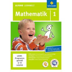Alfons Lernwelt Lernsoftware Mathematik 1. DVD-ROM