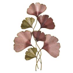 Wanddeko Ginkgo Blätter goldfarben Wanddekoration Deko Wohnaccessoires