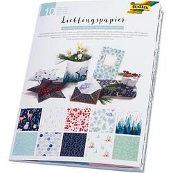 folia Geschenkpapier Lieblingspapiere Winter mehrfarbig