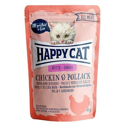 HAPPY CAT All Meat Chicken & Pollack 85g - Sonderangebot! Haltbarkeitsdatum bis 11.03.2021 (Rabatt für Stammkunden 3%)
