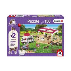 Schmidt Spiele Puzzle Puzzle 150 Teile Reitschule und Tierärztin + 2, Puzzleteile