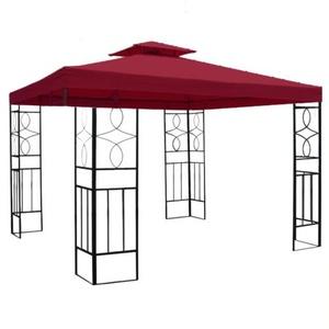 habeig WASSERDICHTER Pavillon Romantika 3x3m Metall inkl. Dach Festzelt wasserfest Partyzelt (Bordeaux)