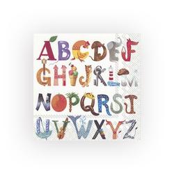 IHR Papierserviette ABC..., (5 St), 33 cm x 33 cm