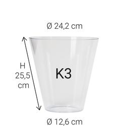 Echtglas K3