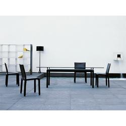 Cassina Cassina LC 6 Tisch schwarz, Designer Le Corbusier, 74x225x85 cm