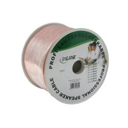 InLine Lautsprecherkabel 2.5 mm2 ohne Stecker bis 50 m durchsichtig (98350T)