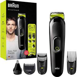 Braun MGK Bartschneider, Haarschneider, Ohr-, Nasenhaartrimmer, Rasierer abwaschbar Schwarz, Grün