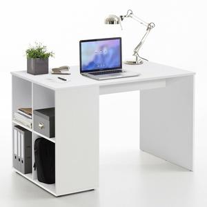 Schreibtisch Gent Computertisch Bürotisch PC-Tisch Home Office in weiß 117x73