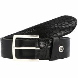 b.belt Gürtel Leder schwarz 100 cm