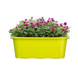 BigDean Blumenkasten für den Balkon − 3x Balkonkasten 40 cm Lime (3 Stück) 40 cm