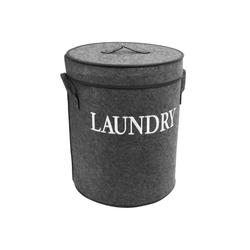 Multistore 2002 Wäschetonne Wäschetonne 'Laundry' 60L / Ø40x50cm grau