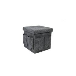 HTI-Living Aufbewahrungsbox Hocker mit Zeitungsfach und Flaschenaufbewahrung, Faltbox