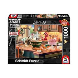 Schmidt Spiele Puzzle Puzzle Secret P. Am Küchentisch, 1.000 Teile, Puzzleteile