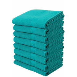 my home Handtücher Juna (8-St), im Vorteilspack blau
