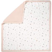 Lässig Babydecke Garden Explorer 100x100 in weiß/rosa