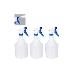 relaxdays Sprühflasche Sprühflasche 3er Set blau