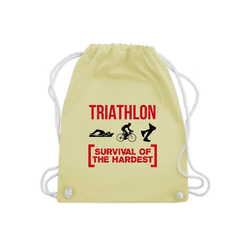 Shirtracer Turnbeutel Triathlon - Survival of the hardest - Sonstige Sportarten - Turnbeutel - Jutebeutel & Taschen, triathlon turnbeutel