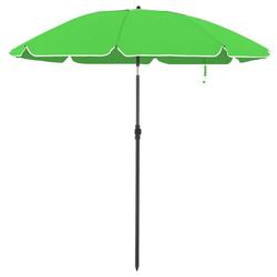 SONGMICS Sonnenschirm GPU65GNV1 GPU65BUV1, Gartenschirm für Strand, Ø 200 cm, UPF 50+, Schirmrippen aus Glasfaser grün