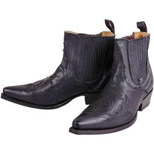 Herren Westernstiefel Cowboy-Stiefelette Stiefel halbhoch schwarz Stars&Stripes