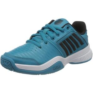 K-Swiss Herren KS TFW Court Express Omni BLK M Sneaker, Algiers Blue/Black/White, 35.5 EU