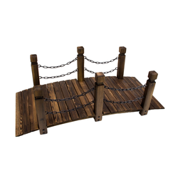 Gartenbrücke / Teichbrücke 148 cm aus Holz