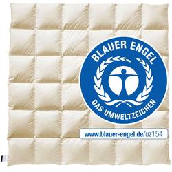 Daunenbettdecke, E14 Greta, billerbeck, warm, (1-tlg), Die Decke mit dem blauen Engel 200 cm x 200 cm