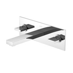 Steinberg Waschtisch-Wand-Zweigriffarmatur Serie 160 1601950, Ausladung 165 mm, 3-Loch-Montage
