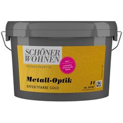 SCHÖNER WOHNEN-Kollektion Wandfarbe Metall-Optik Effektfarbe gold, 1 l