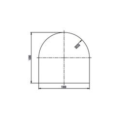 Haas+Sohn | Kamin Glasplatte, Funkenschutzplatte | Form C