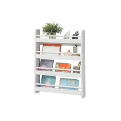 SoBuy Bücherregal KMB08, Kinderregal mit 4 Ablagen für Bücher und Deko 60 cm x 80 cm x 12 cm