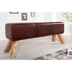 riess-ambiente Sitzbank TURNBOCK 120cm braun, mit Echtleder-Bezug