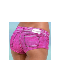 KangaROOS Bikini-Hotpants Patty, in angesagter Jeans-Optik rosa 40