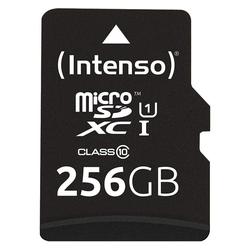 Intenso Micro SDXC Karte Speicherkarte 256GB UHS-I Premium mit Adapter Speicherkarte
