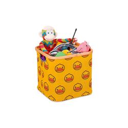relaxdays Aufbewahrungskorb Stoff Aufbewahrungsbox Kinder gelb