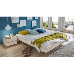 Holzliege Rimini - 180x200 cm - Buche weiß