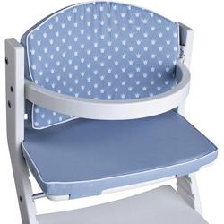 tiSsi® Kinder-Sitzauflage Kronen blau, für tiSsi® Hochstuhl