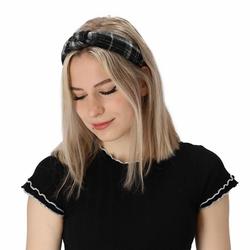 halsüberkopf Accessoires Haarband Haarband Karo, 1-tlg., modisches Haarband schwarz