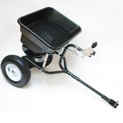 Streuwagen / Schleuderstreuer für Rasentraktor 45 Liter mit Anhängerkupplung