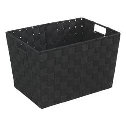 WENKO Adria M Aufbewahrungskorb, Kunststoffgeflecht, Maße: 35 x 20 x 25 cm, Farbe: Schwarz