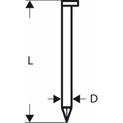 D-Kopf Streifennagel SN34DK 50G. 2.8 mm. 50 mm. ve