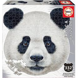 Educa Puzzle Konturenpuzzle Pandagesicht, 400 Teile, Puzzleteile