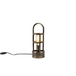 Art Deco Tischlampe Bronze 35 cm - Kevie