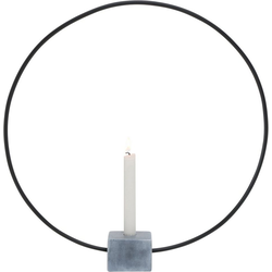 BOLTZE Kerzenhalter Congo, rund, mit Sockel in Beton-Optik Ø 50 cm x 8 cm