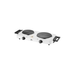 Lentz Doppelkochplatte Kochplatte Doppel weiß