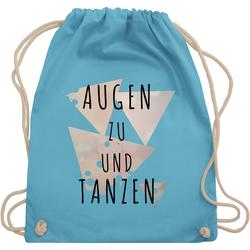 Shirtracer Turnbeutel Augen zu und tanzen - schwarz - Festival Turnbeutel - Turnbeutel