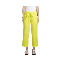 7/8-Leinenhose mit weitem Bein in Petite-Größe, Damen, Größe: XS Petite, Gelb, by Lands' End, Gelb Zitrone - XS - Gelb Zitrone