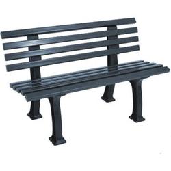 gartenmoebel-einkauf Bank IBIZA 2-sitzer, Kunststoff graphitgrau