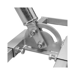 PremiumX PROFI X100-48 SAT Dachsparrenhalter 100 cm Mast 48 mm Stahl feuerverzinkt Sparren-Halterung für Satelliten-Antenne Satellitenschüssel SAT-Halterung