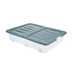 BigDean Unterbettkommode 60l Rollbox Räder Unterbettbox Spielzeugkiste blau