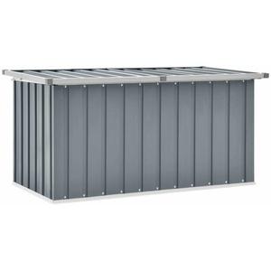 vidaXL Gartenbox Grau Auflagenbox Kissenbox Aufbewahrungsbox Gartenmöbel Truhe